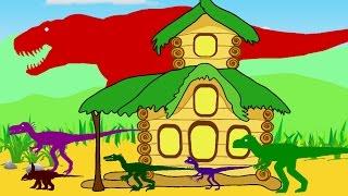 Веселые Динозаврики, Тираннозавр Рекс и Теремок. Динозавры мультфильм про динозавров на русском