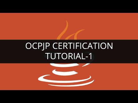 OCPJP Certification Tutorial - 1 | Edureka - YouTube