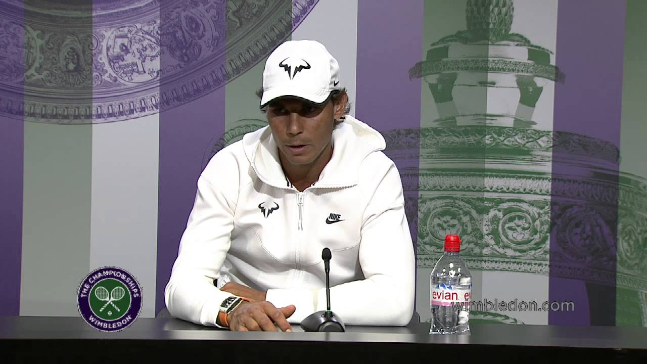 Rafael Nadal Pre Wimbledon Press Conference #Nadal