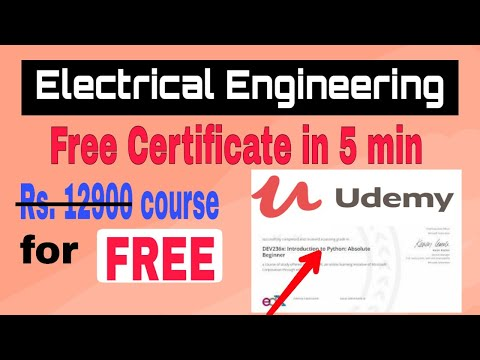 ELECTRICAL ENGINEERING FREE COURSE WITH CERTIFICATE ...