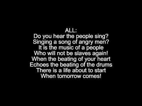 Do You Hear The People Sing Reprise Lyrics