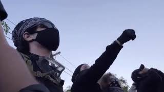 LA Antifa Yelling N*zi To People With Israeli Flag, Yelling Coons To Black & Brown Trump Supporters