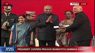 President confers Pravasi Bharatiya Samman awards to the Person of Indian origin