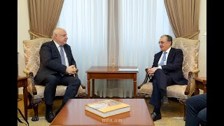 ԱԳ նախարար Զոհրաբ Մնացականյանի հանդիպումը ԵԱՀԿ Խորհրդարանական վեհաժողովի նախագահ Գեորգի Ծերեթելիի հետ