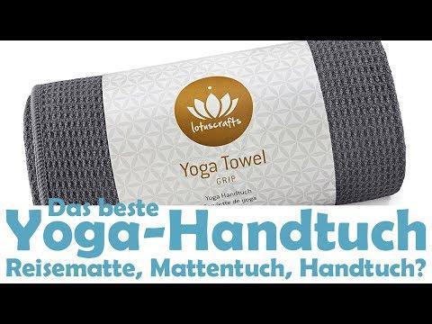 Yoga Handtuch als Reisematte - Lotuscrafts Mattentuch Manduka Yogitoes [Vergleich 2018]
