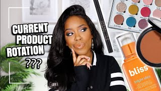 WHATS IN MY EVERYDAY MAKEUP DRAWER?? | DRUGSTORE PRODUCTS IM USING UP | MARCH 2020 | Andrea Renee