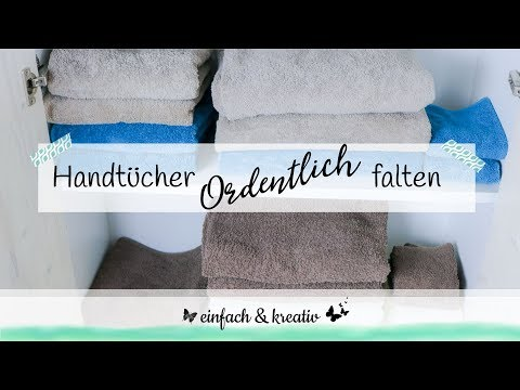 Handtücher falten leicht gemacht | einfach & organisiert