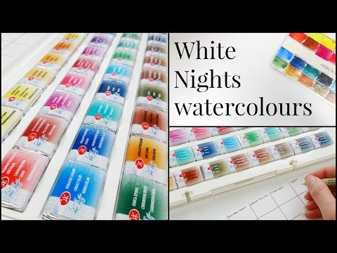 White Nights Watercolours. Making Swatches!