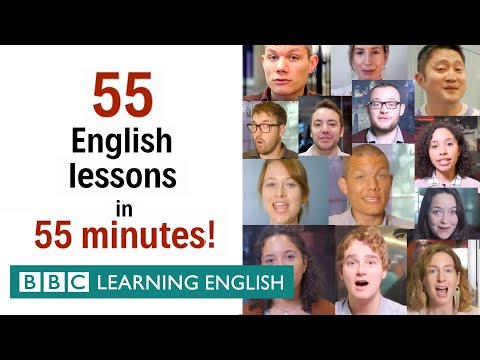 55 English lessons in 55 minutes! Grammar & Vocabulary Mega Class