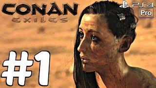 Conan Exiles - Gameplay Walkthrough Part 1 - Prologue (Full Game) PS4 PRO