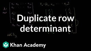 Linear Algebra: Duplicate Row Determinant