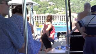 preview picture of video 'Charlotte Amalie, St. Thomas, USVI - Dancing on the Party Boat HD (2015)'
