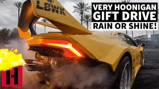 VERY HOONIGAN GIFT DRIVE! 20MIN OF REV LIMITER AND SMOKE!