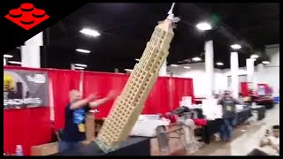 EPIC LEGO Skyscraper Crashing to the Floor