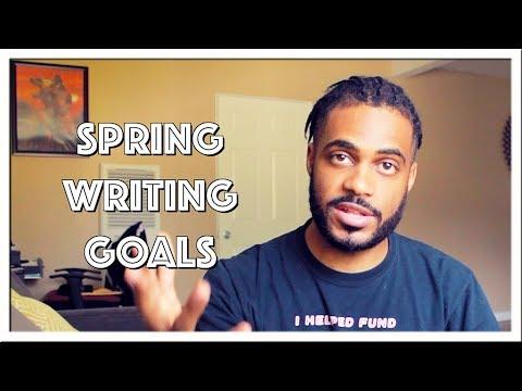 VLOG | Spring Writing Goals 2018