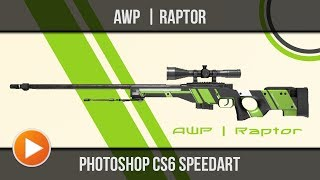 CSGO AWP Raptor | Photoshop Speedart | [Full-HD] | Molten Pixel TV