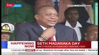 Epic Maasai performance amuses President Kenyatta during #MadarakaDay2019