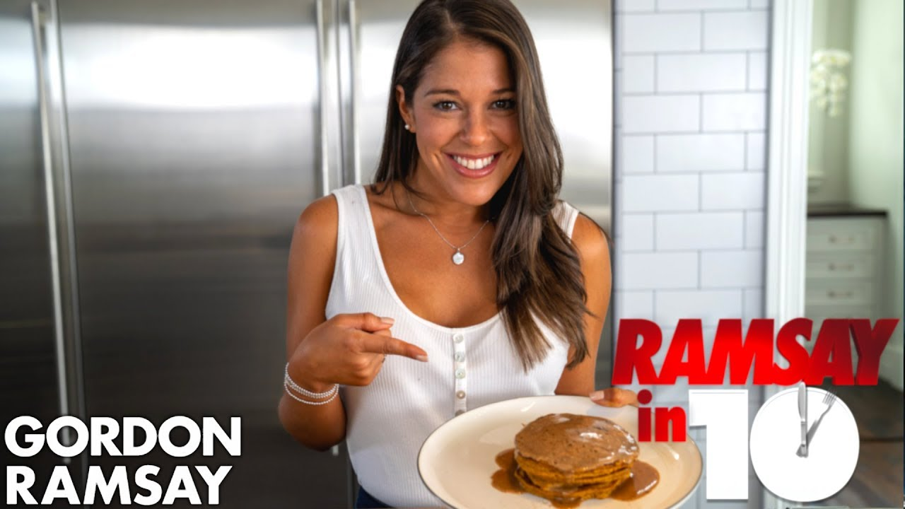 Gordon Ramsay Challenges A Hell S Kitchen Finalist To Make A Pumpkin Spice Breakfast Ramsay In 10