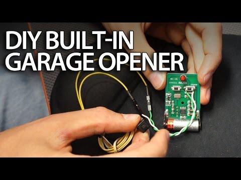 DIY: Built-in garage door opener in your car