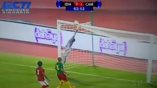 Timnas Indonesia Vs Kamerun 01 2015 Cuplikan Gol Dan Penyelamatan Gemilang I Made Wirawan