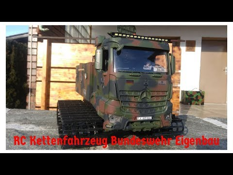RC Kettenfahrzeug Bundeswehr Eigenbau mit FPV/RC military track vehicle/RC rupsvoertuig zelfbouw