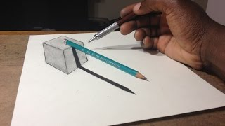 How to Draw 3D Cube with Pencil Illusion