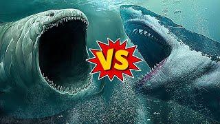 Megalodon Vs A Huge Monster Of The Deep!