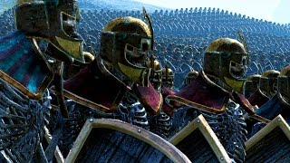Tomb Guard Versus Blackorc - Massive Battle Total War Warhammer