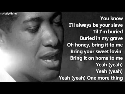Bring It On Home To Me performed by Sam Cooke