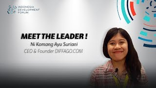 IDF Meet The Leader Ni Komang Ayu Suriani CEO & Founder Diffago.com