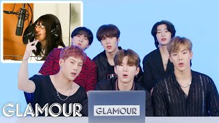 Monsta X Watches Fan Covers on YouTube - Part 2 | Glamour