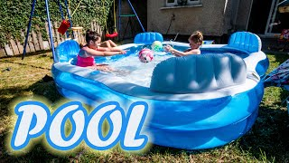 New Backyard Pool - Fun With My Friend