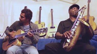 """""""Bye Bye Blues"""" James CARTER saxophone, Mathias LEVY violin, Romane & Pierre MANETTI guitares"""
