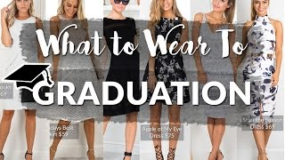What To Wear To Graduation 🎓