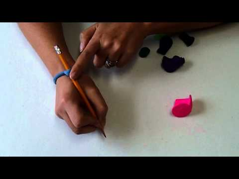 Screenshot of video: DIY pencil grips
