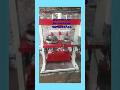 Three Die Semi Automatic Hydraulic Plate Machine