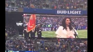 New York Giants National Anthem - Angelica Salem