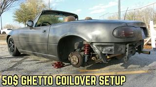 50$ EBAY COILOVER SETUP! MX-5 Miata NA Drift Build Ep.5