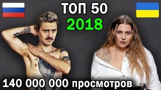 ТОП 50 русских и украинских клипов 2018 по просмотрам