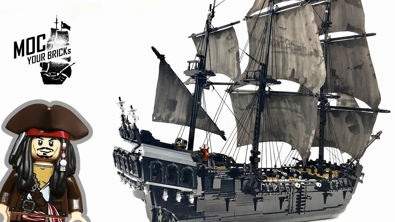 Lego pirate ship MOC : Black Pearl. Speed Build