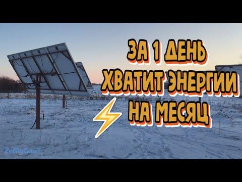 ☀ Солнечная электростанция//Солнечный  денек в феврале месяце