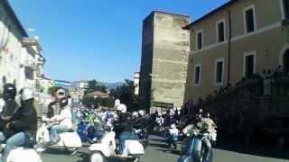 preview picture of video '4° raduno città di Artena (Rm) In vespa sulla Rocca'