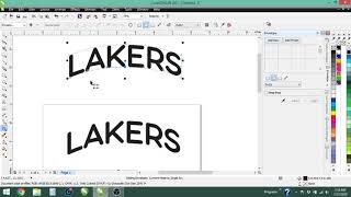 Curving Text in CorelDraw with the Envelope Tool and Text to Path