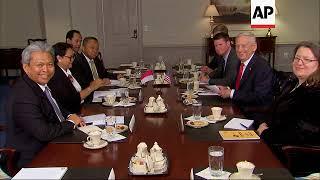 US Defense Secretary Mattis meets with Indonesian leaders