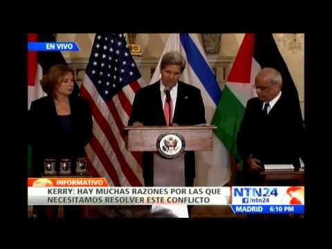 John Kerry habla sobre conversaciones entre israelíes y palestinos