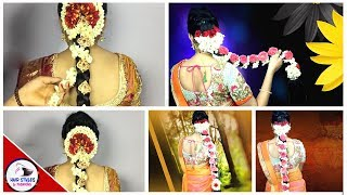 Beautiiful South Indian Festival Hairstyle | Sankranti Special Poola Jada | Hairstyles And Fashions