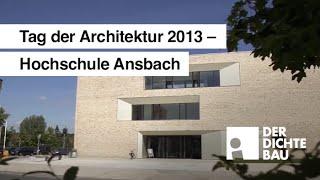 Hochschule Ansbach am Tag der Architektur 2013