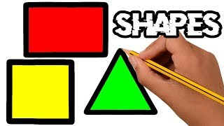 Learn Colors with Shapes coloring and drawing Learn Colors for kids | VOVING COLORING