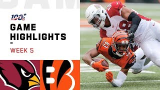 Cardinals vs. Bengals Week 5 Highlights | NFL 2019