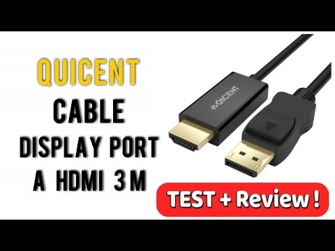Cable Display Port a HDMI Adaptador 3m Qicent  | UnBoxing  Review en Español